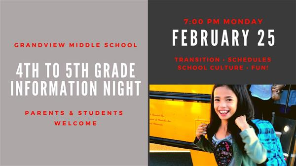 4th to 5th Grade Information Night