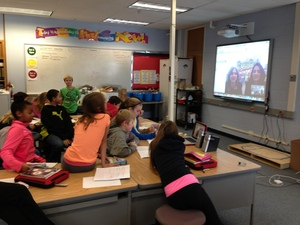 Grade 5 Shark Tank Skype call