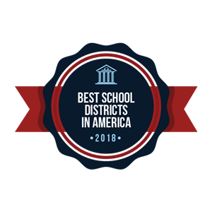 Best School District in America badge 2018