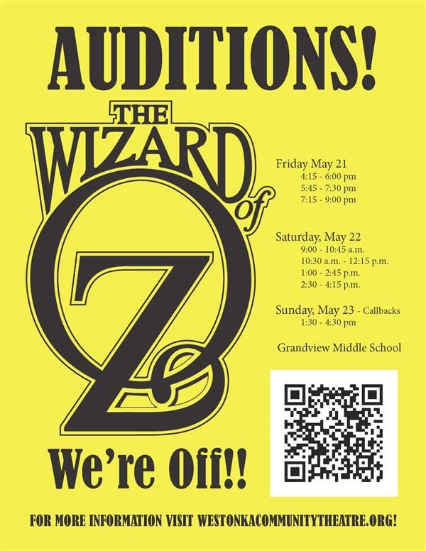 Auditions! The Wizard of Oz