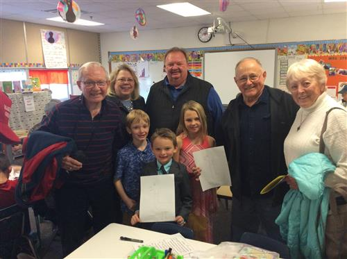 Shirley Hills Students Host Grandfriends' Day