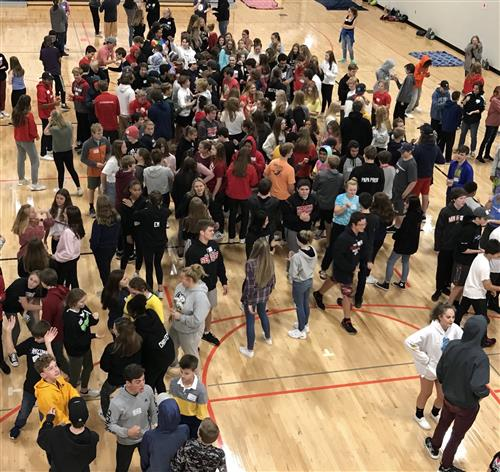 A total of 220 Mound Westonka High School ninth-graders and 26 senior Link Crew leaders took part in the annual Ninth-Grade R