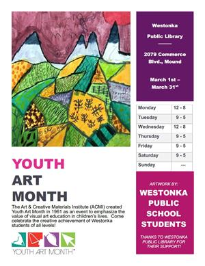 Youth Art Month at Westonka Library