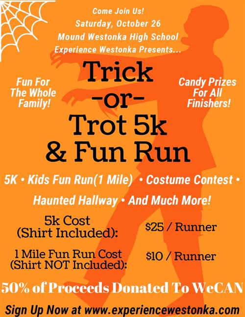 DECA Hosts Trick-or-Trot 5K for WeCAN