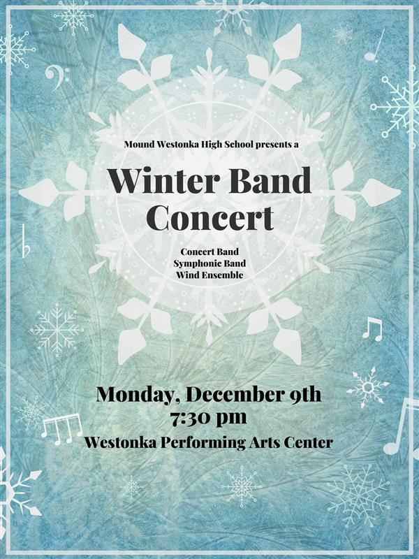 MWHS Bands to Host Winter Concert Dec. 9