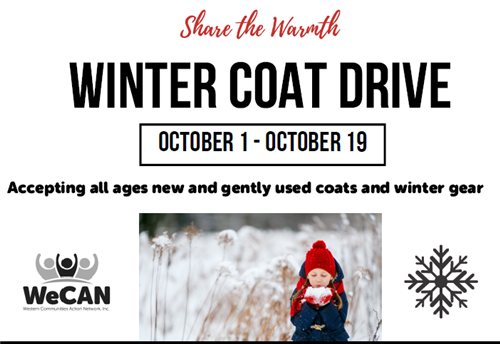 WeCAN to Host Annual Coat Drive