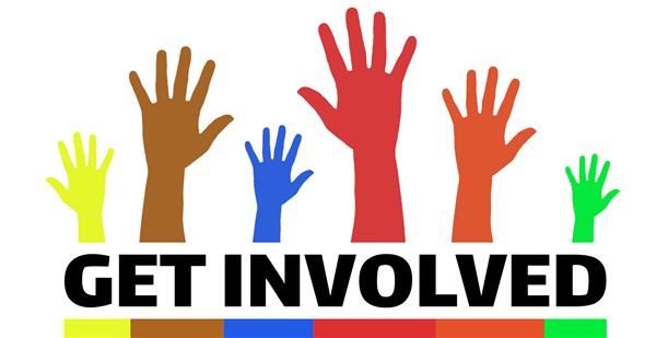 """get involved"" text image"