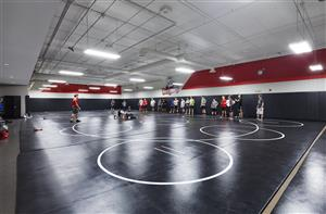 Wrestling in wrestling room
